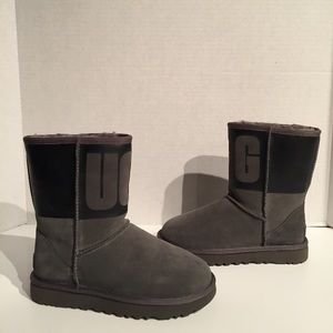 Ugg Classic Short Ugg Rubber Charcoal Grey Boot